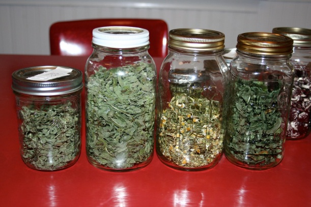 home grown herbal teas