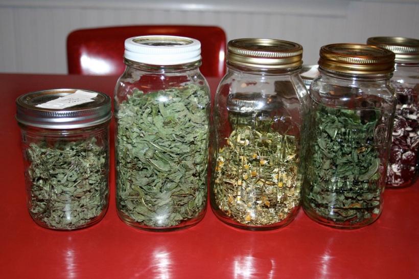 home grown herbal teas