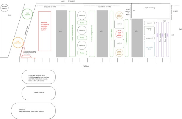 garden layout for 6ft by 20ft garden plot