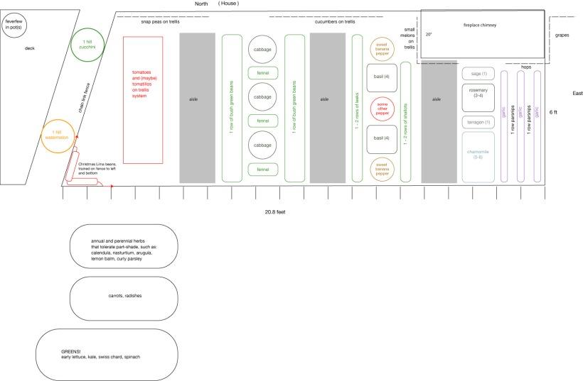 garden layout for 6ft by 20ft garden plot