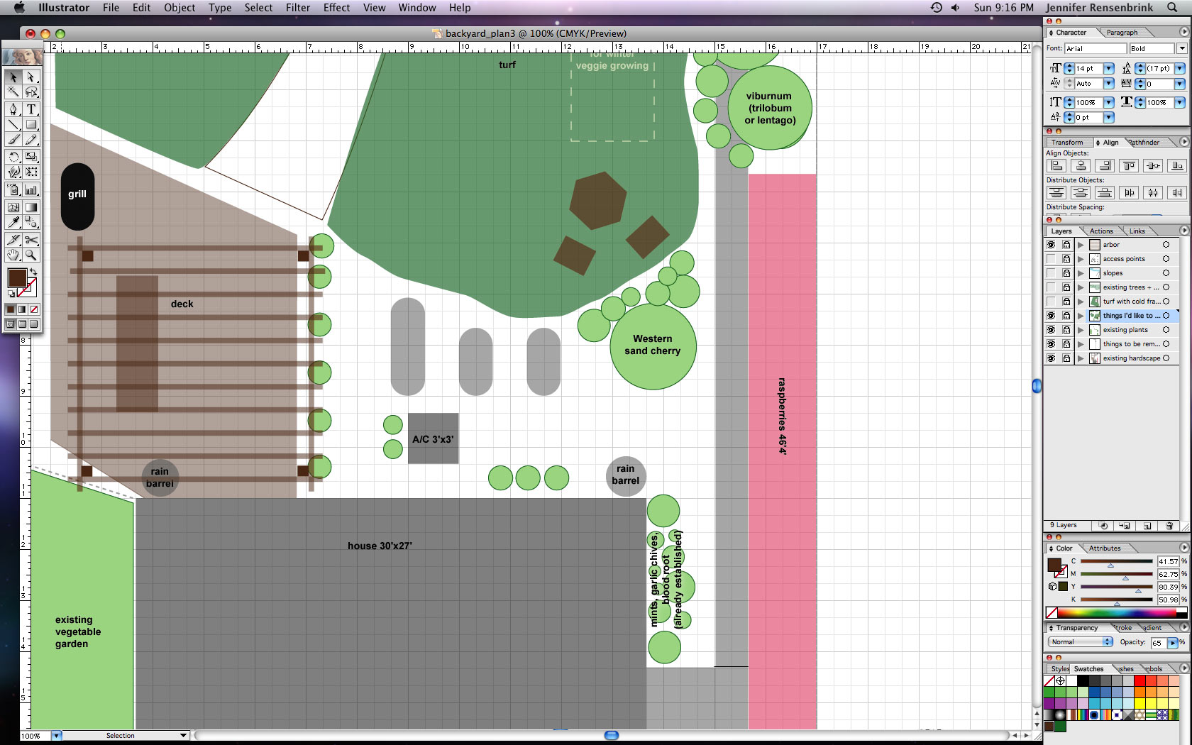 My Back Yard Landscape Plan