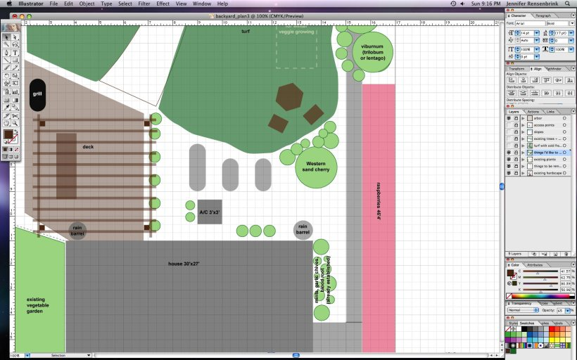 Adobe Illustrator as landscape design tool
