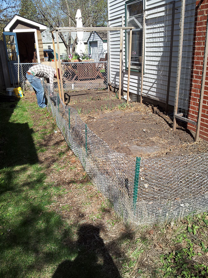 Rabbit-proofing the vegetable garden, from New Home Economics