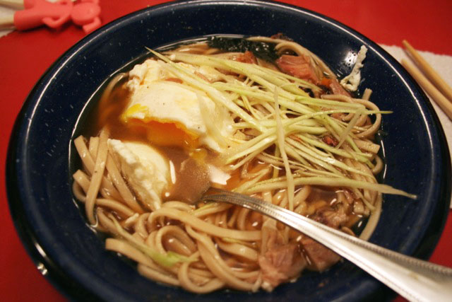 Homemade slow cooker ramen