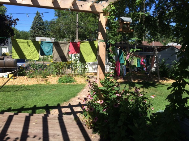 Laundry on arbor