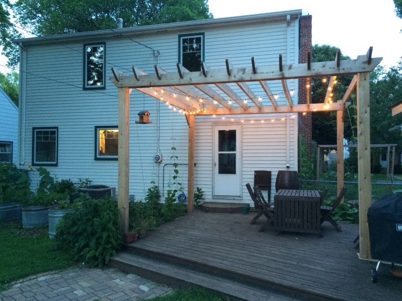 Arbor with lights