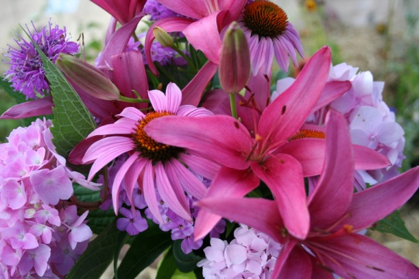 Pink wedding bouquet, via The New Home Economics