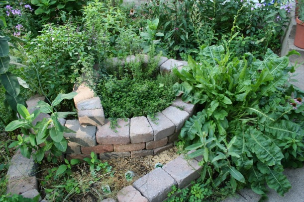 Herb spiral, via The New Home Economics