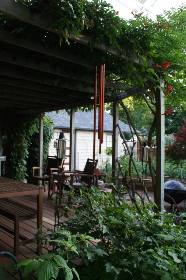 Deck and trellis, via The New Home Economics