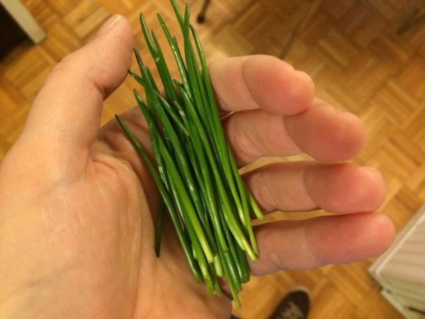 Chives, via the New Home Economics