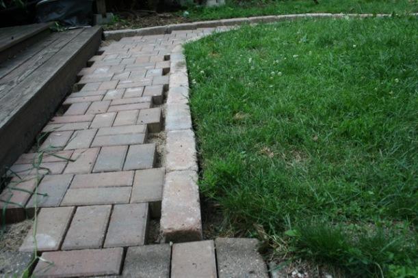 A new brick path, via The New Home Economics
