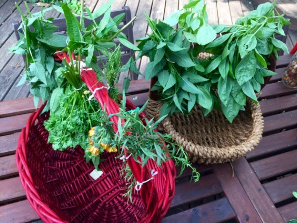 Drying herbs, via The New Home Economics