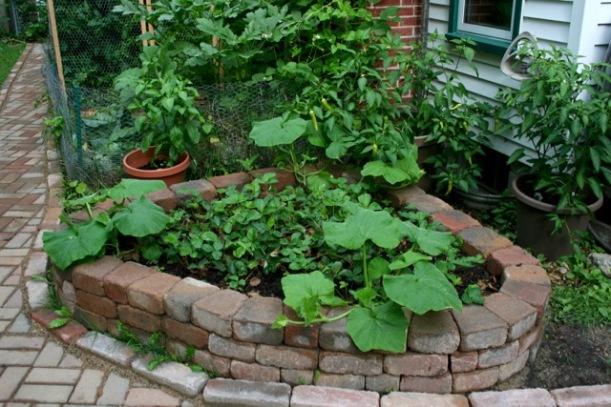 Raised strawberry bed, via The New Home Ecnomics
