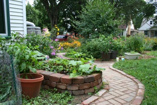Brick paths, via The New Home Economics